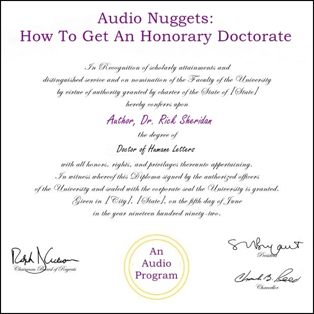 Audio Nuggets: How To Get An Honorary Doctorate [DD]